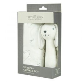 Ivory Bunny Muslin Wrap and Toy