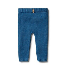 Knitted Legging - Denim Fleck